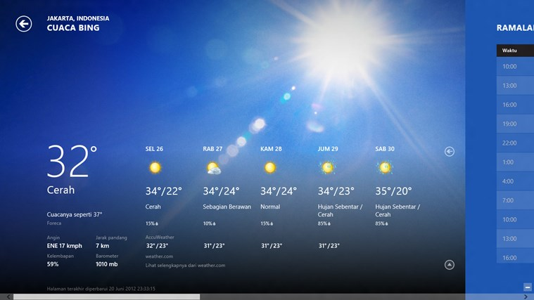 Bing Weather screenshot 0