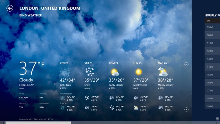 Bing Weather screen shot 0