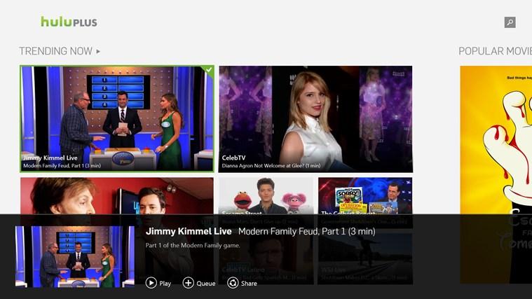 Hulu Plus app for Windows in the Windows Store