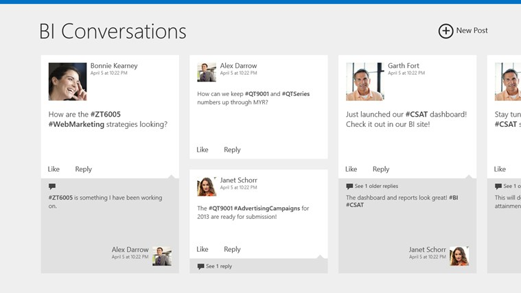 SharePoint Newsfeed screen shot 0
