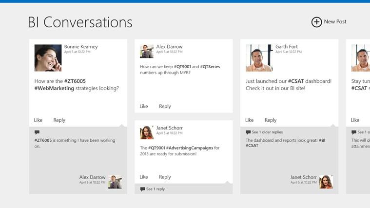 SharePoint Newsfeed screen shot 0