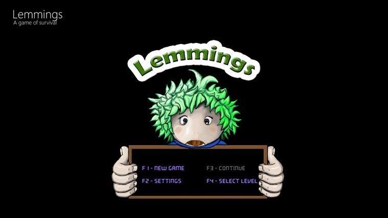 Lemmings screen shot 0
