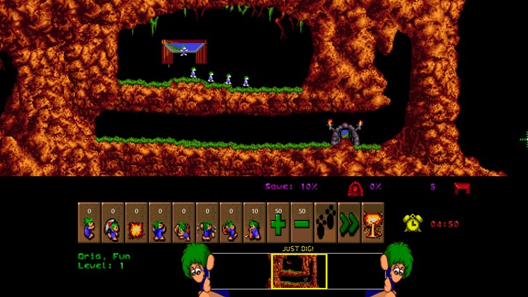 Lemmings screen shot 2