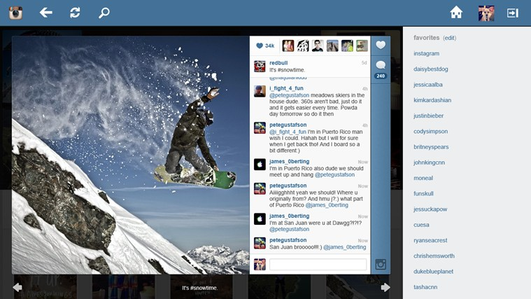 Instagram Explorer screen shot 2