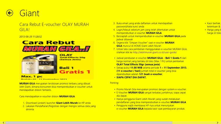 Giant Lebih Murah screenshot 4