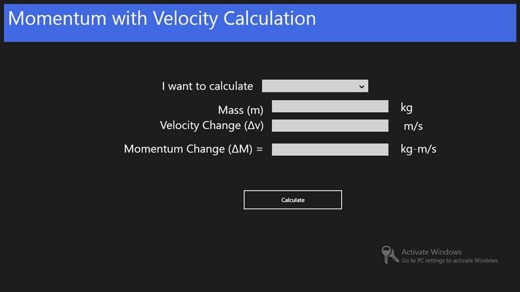 Momentum with Velocity: знімок екрана 0
