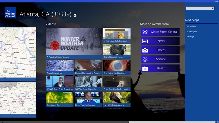 The Weather Channel screen shot 6