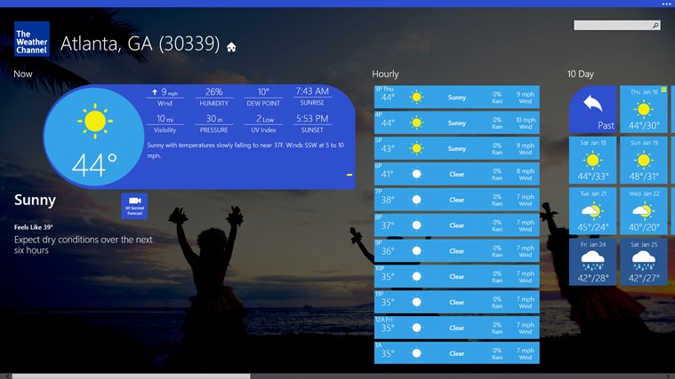 The Weather Channel screen shot 8