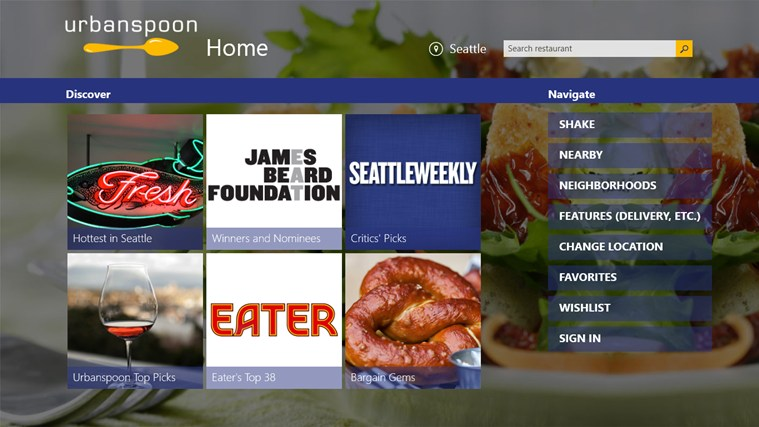 Urbanspoon screen shot 0