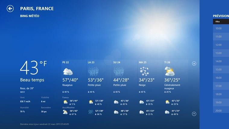 Bing Weather capture d'écran 0