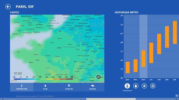 Bing Weather capture d'écran 2