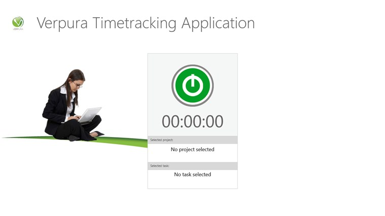 Verpura Timetracking Application Screenshot 0