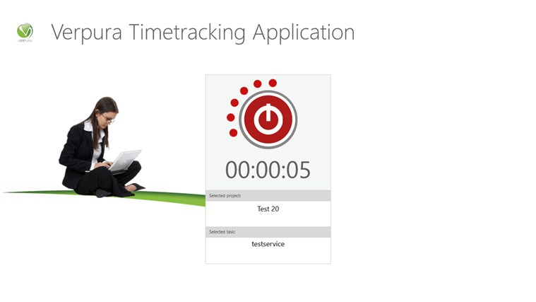 Verpura Timetracking Application Screenshot 2