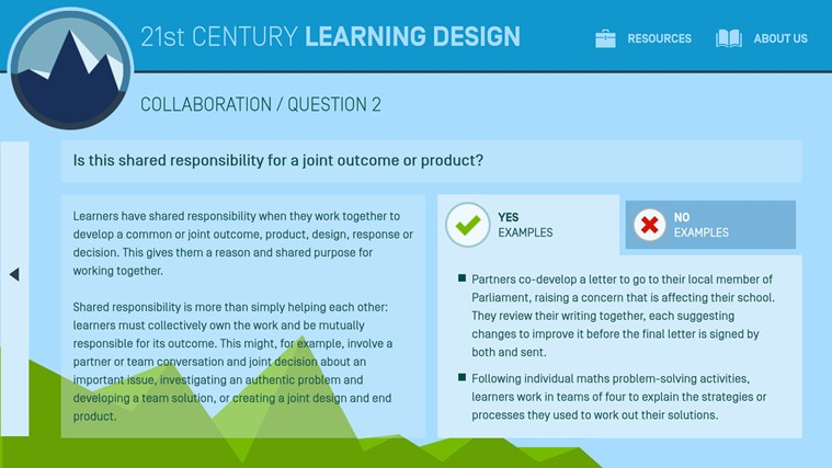 21st Century Learning Design screen shot 2