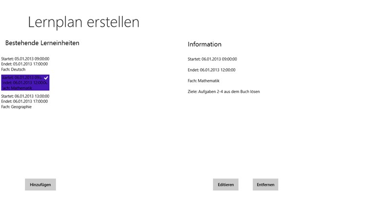 Lernplan ersteller app f 252 r windows in windows store