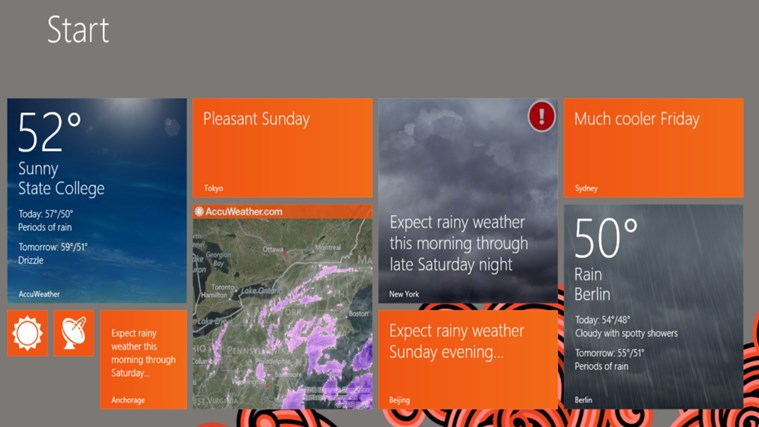 AccuWeather for Windows 8 screen shot 2