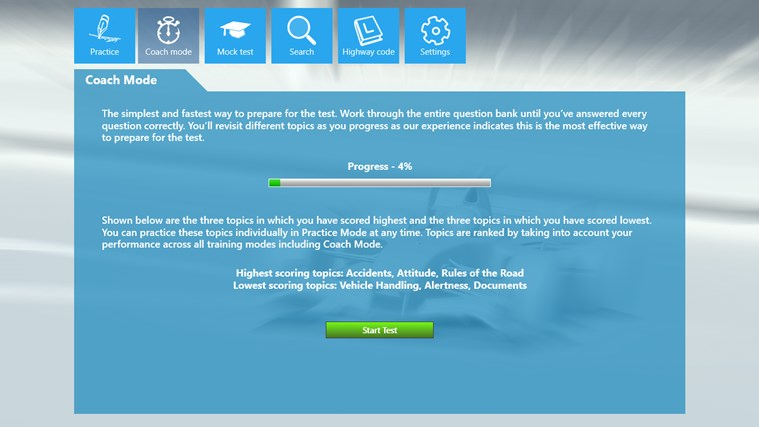 Motorcycle Theory Test screen shot 2