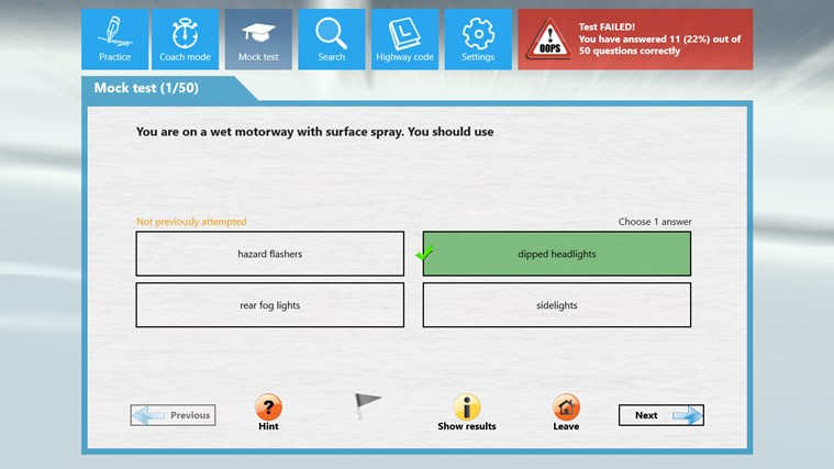 Motorcycle Theory Test screen shot 4