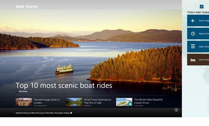 MSN Travel screen shot 0
