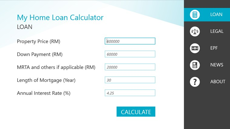 house calculator payments malaysia