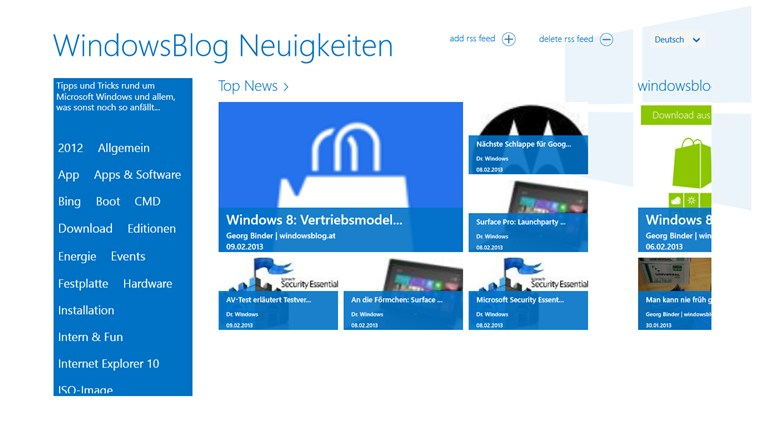 WindowsBlog Neuigkeiten Screenshot 0