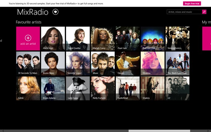 Nokia MixRadio screen shot 4