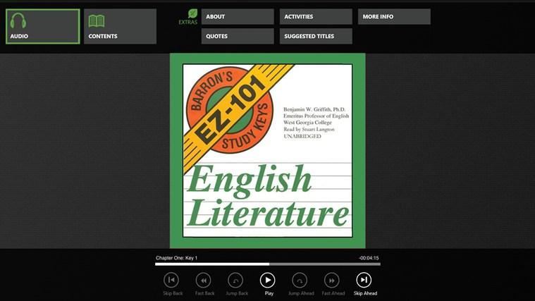 Barron's EZ English Literature screenshot 0