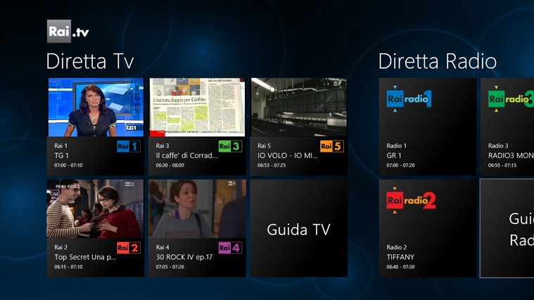 Rai.tv cattura di schermata 0