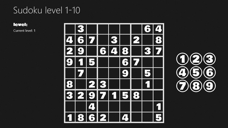Sudoku level 1-10 i-screen shot 0
