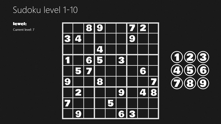 Sudoku level 1-10 i-screen shot 2