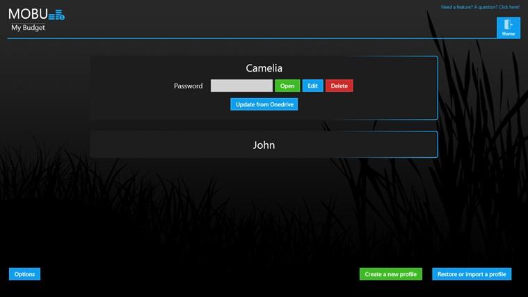MoBu - Financial management screen shot 0