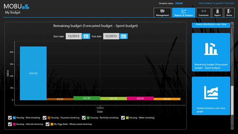MoBu - Financial management screen shot 4