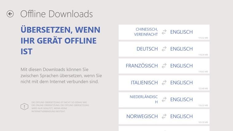 Bing Übersetzer Screenshot 2