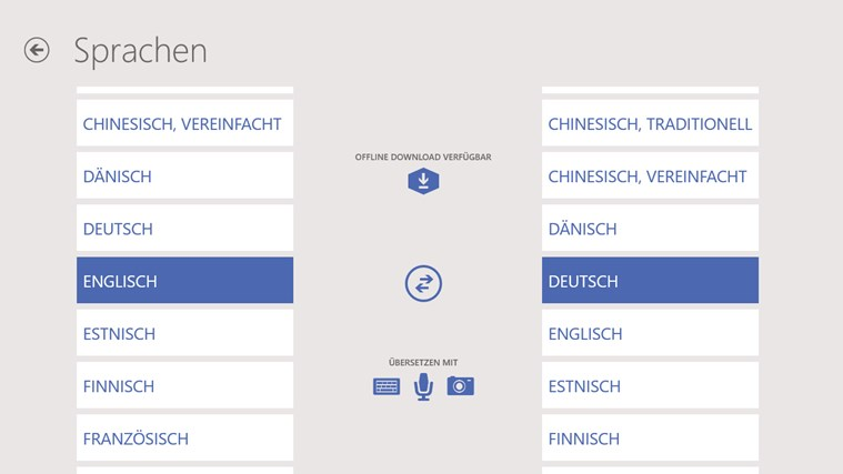 Bing Übersetzer Screenshot 4