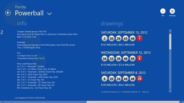 Lotto Results screen shot 4