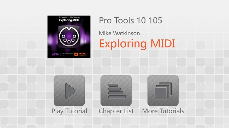 Pro Tools 10 105 - Exploring MIDI full screenshot