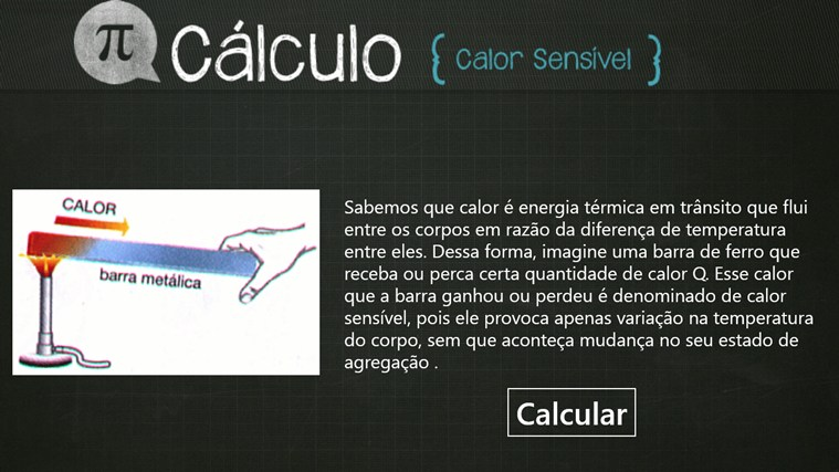 Calculo do Calor Sensível screen shot 0