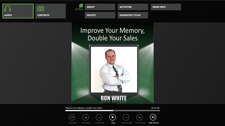 Improve Your Memory, Double Your Sales (Ron White) captura de pantalla 0