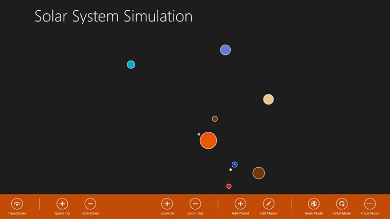 Solar System Simulation screen shot 0
