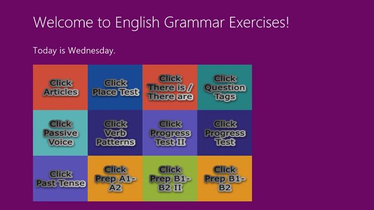 English Grammar Exercises screen shot 0