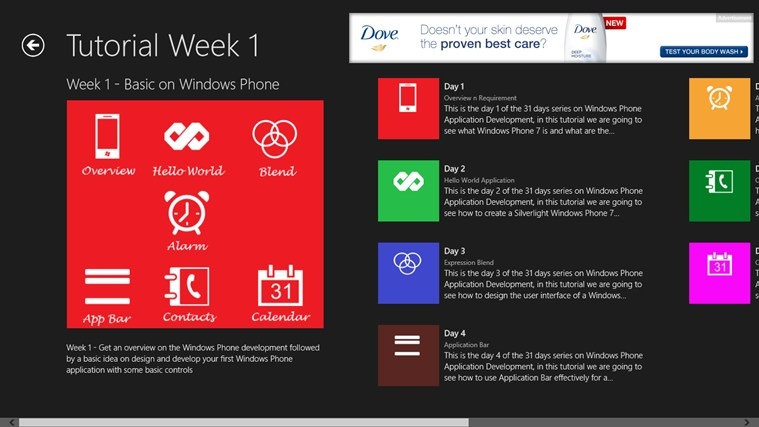 Windows Phone in 31 Days screen shot 2