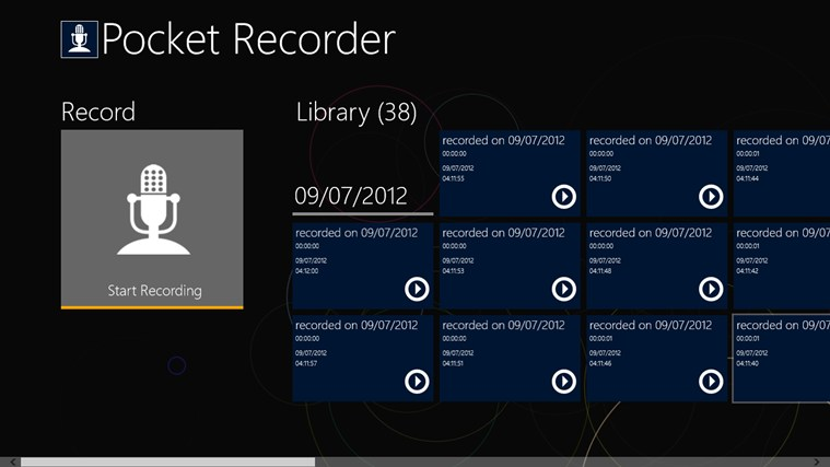 Pocket Recorder screen shot 0