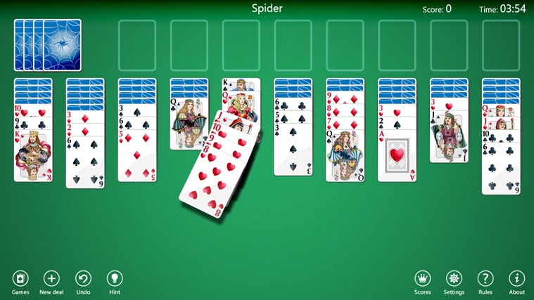 Spider Solitaire Collection Free screen shot 0