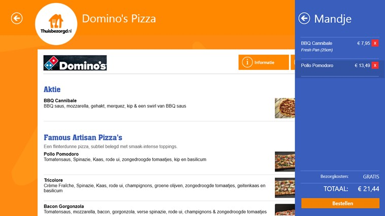 Thuisbezorgd.nl schermafbeelding 2