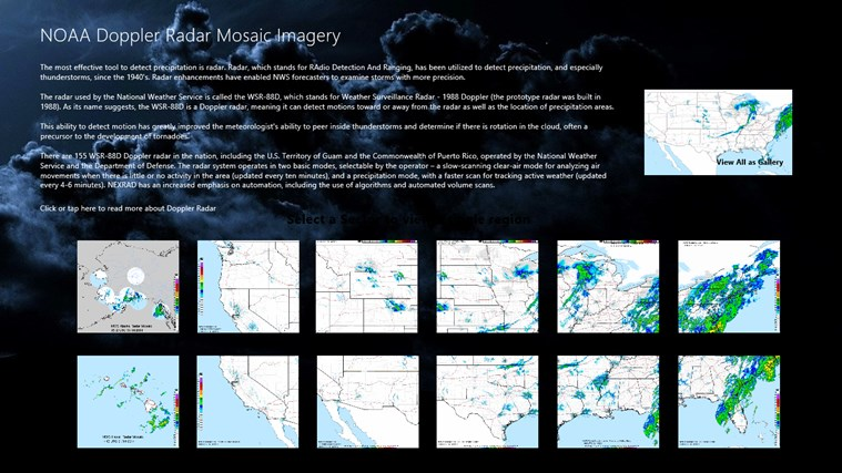 NOAA Doppler Radar Mosaic Imagery screen shot 0