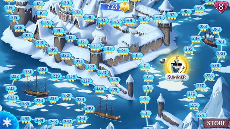 Frozen Free Fall screen shot 2