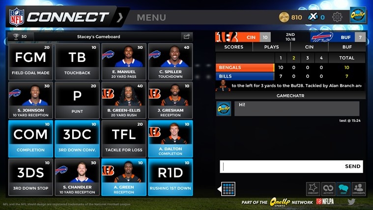 NFL Connect screen shot 2