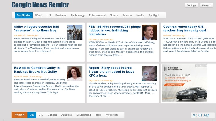 Google News - Reader screen shot 0