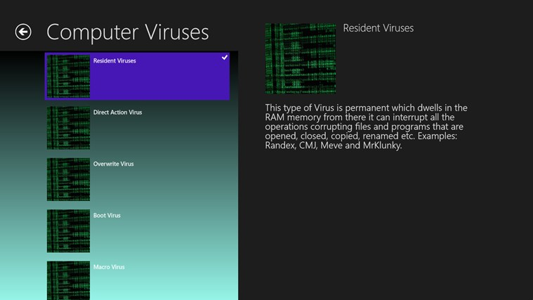 Computer Viruses screen shot 2