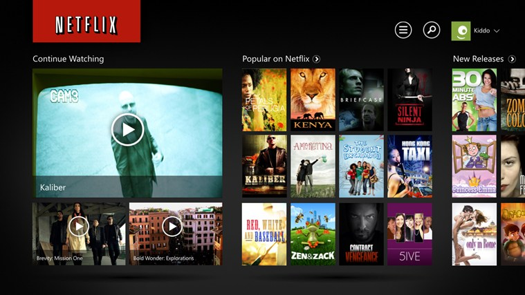 Netflix screen shot 0